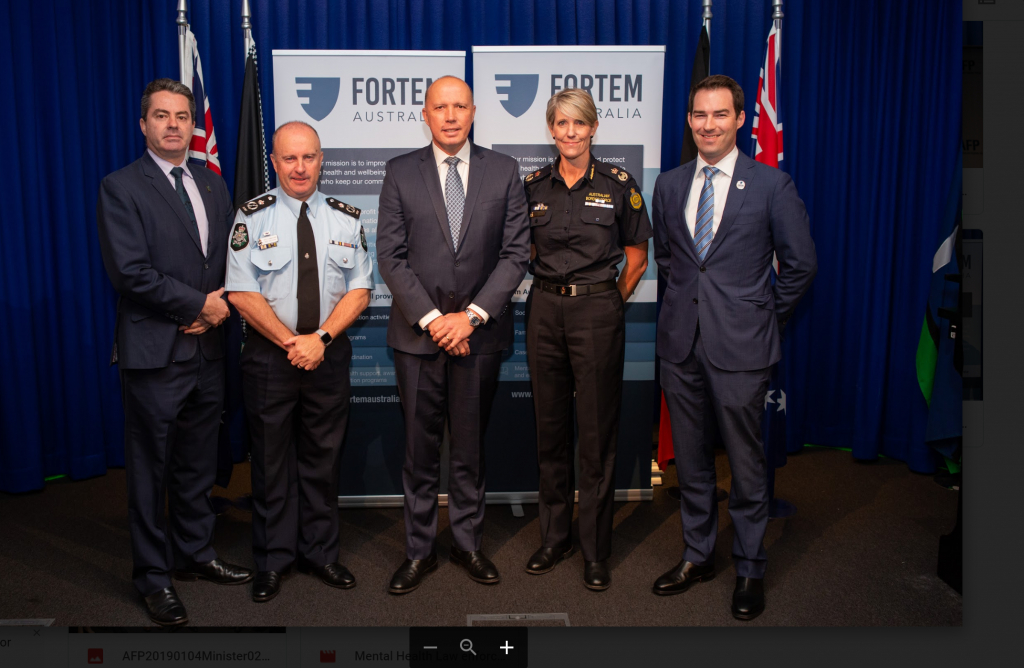 Fortem Funding Announcement.  Minister for Home Affairs, the Hon Peter Dutton MP with r