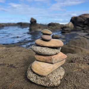 Rocks stacked on top of each other, Broulee NSW