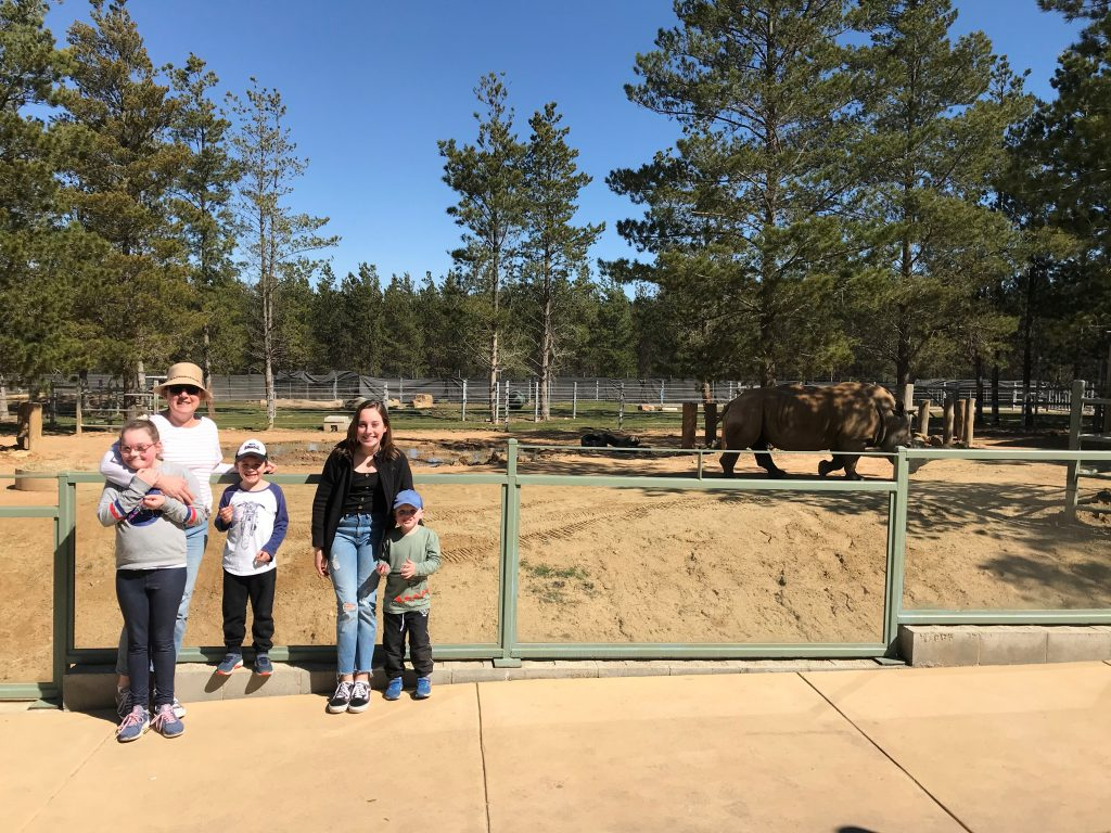 Families reconnecting at Canberra Zoo