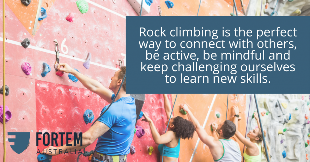 Rock climbing offers a chance to connect, be active, and more