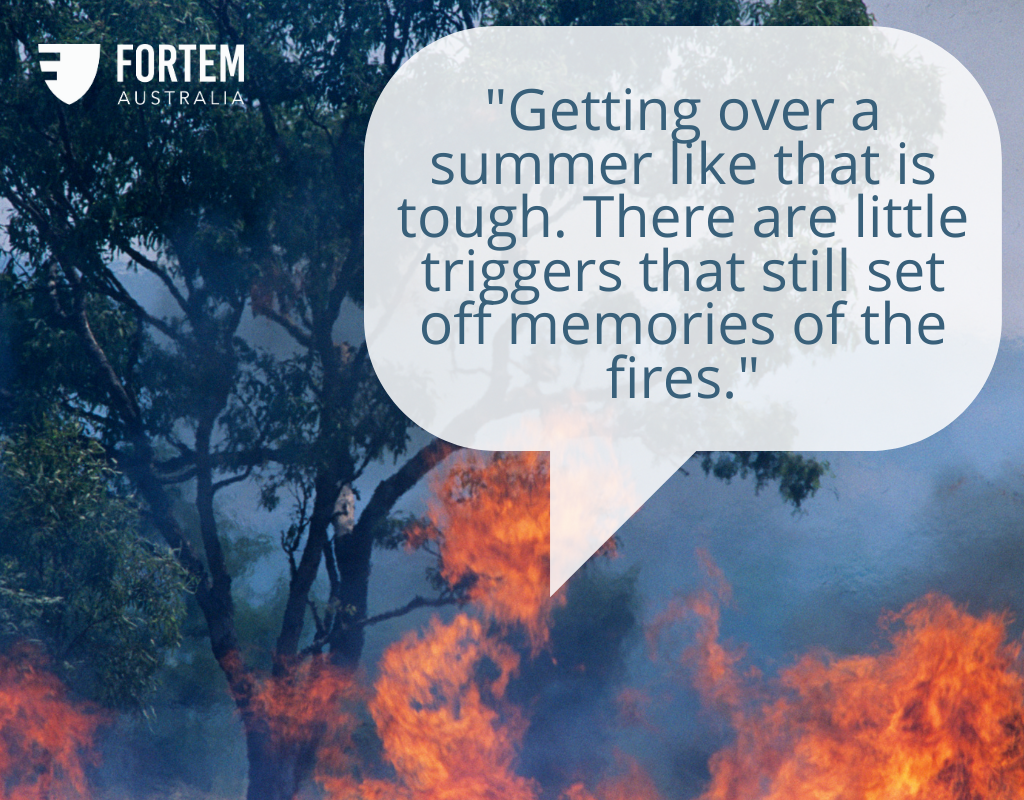 First Responder Story: 'There are little triggers that still set off memories of the fires'