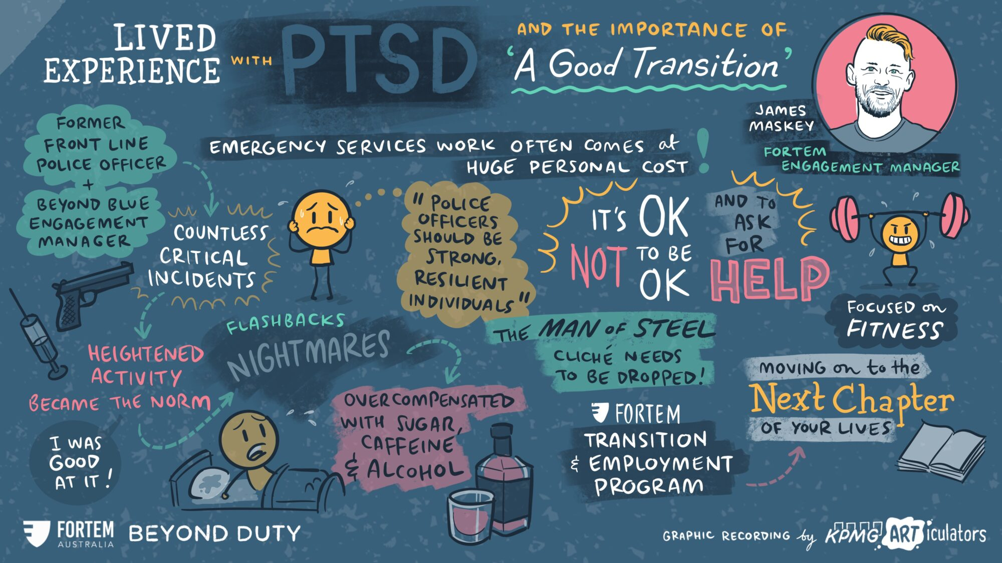 """Beyond Duty – """"I live with a diagnosis of PTSD, and I want you to know that it's okay to seek support."""""""